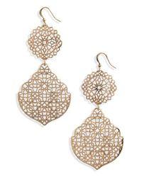 BP. - Metallic Medallion Earrings - Lyst