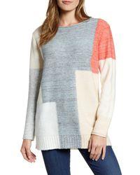 Caslon Blue Caslon Tunic Sweater