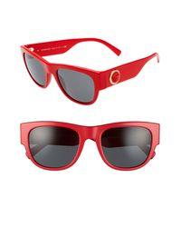 Versace Gray 55mm Square Sunglasses