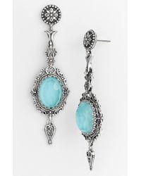 Konstantino Metallic 'aegean' Drop Earrings