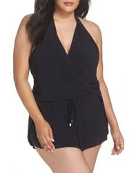 Magicsuitr Black Magicsuit Bianca One-piece Romper Swimsuit