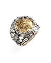 Konstantino - Metallic 'athena' Coin Ring - Lyst