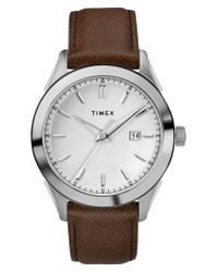 Timex - Metallic Timex Torrington Leather Strap Watch for Men - Lyst