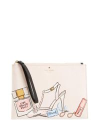 Kate Spade   Natural Wedding Belles - This Is The Life Medium Bella Pouch   Lyst
