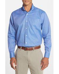 Cutter & Buck Blue 'nailshead' Classic Fit Sport Shirt for men