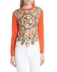 Tory Burch - Multicolor Alyssa Sweater - Lyst