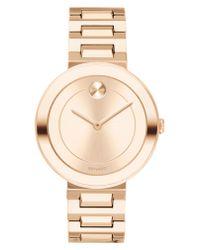 Movado - Gray Bold Refined Bracelet Watch - Lyst