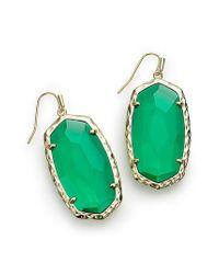 Kendra Scott - Green Ella Drop Earrings - Lyst