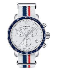 Tissot | Blue Quikster Nba Chronograph Nato Strap Watch for Men | Lyst