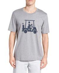 Travis Mathew - Gray 'mapes' Graphic Pima Cotton T-shirt for Men - Lyst