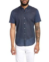 Zachary Prell Blue Clyde Slim Fit Sport Shirt for men