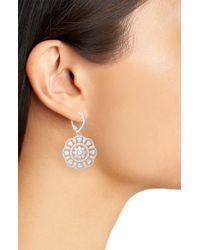 Nina Metallic Sunburst Drop Earrings