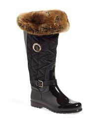 Santana Canada - Black 'clarissa' Waterproof Rain Boot - Lyst