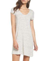DKNY - Gray 'city Essentials' V-neck Sleep Shirt - Lyst