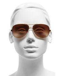 Tory Burch Metallic 60mm Aviator Sunglasses