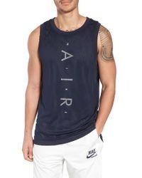 Nike Blue Sportswear Air Knit Tank for men