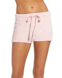Pj Salvage - Pink Chenille Shorts - Lyst