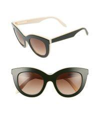 Victoria Beckham | Brown 49mm Cat Eye Sunglasses | Lyst