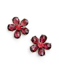 Kate Spade | Red In Full Bloom Statement Stud Earrings | Lyst