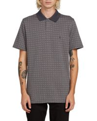 Volcom Gray Wowzer Plus Print Polo for men