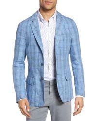 Zachary Prell - Blue Laxus Plaid Linen Sport Coat for Men - Lyst
