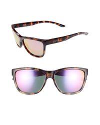 Smith Multicolor Eclipse 58mm Chromapoptm Sunglasses - Violet Tortoise/ Violet Mirror