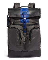 Tumi Blue Alpha Bravo London Backpack for men