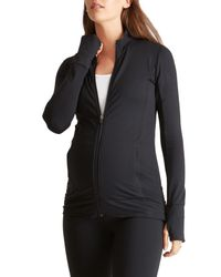 Ingrid & Isabel Black Ingrid & Isabel Active Maternity Jacket