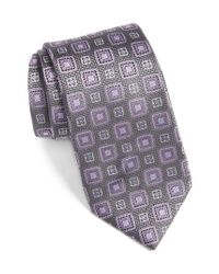 David Donahue - Multicolor Medallion Silk Tie for Men - Lyst