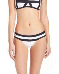 Pilyq | White Colorblock Bikini Bottoms | Lyst