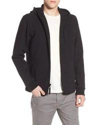 James Perse - Black Cotton & Wool Zip Hoodie for Men - Lyst
