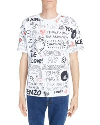 a1b857d06 Lyst - KENZO I Love You Print T-shirt in White for Men