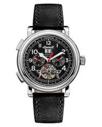INGERSOLL WATCHES - Metallic Ingersoll Bloch Open Heart Automatic Multifunction Leather Strap Watch for Men - Lyst