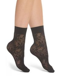 Spanx - Black Spanx Lace Socks - Lyst
