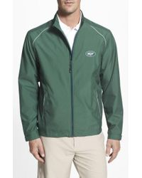Cutter & Buck - Green 'new York Jets - Beacon' Weathertec Wind & Water Resistant Jacket for Men - Lyst