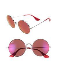 Ray-Ban - Metallic 55mm Round Sunglasses - Lyst