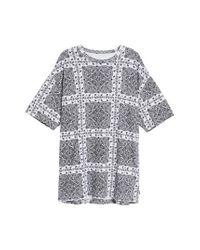 Converse - White X Miley Cyrus Bandana Print T-shirt Dress - Lyst