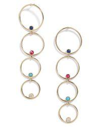 BaubleBar - Metallic Lucienne Hoop Earrings - Lyst