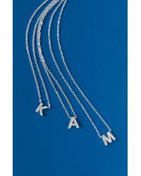 Nadri Metallic Initial Pendant Necklace
