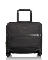 Tumi - Black 'alpha 2' Expandable Wheeled Briefcase for Men - Lyst