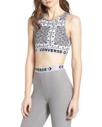 Converse - White X Miley Cyrus Bandana Print Sports Bra - Lyst
