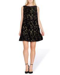 Tahari - Black Burnout Velvet Dress - Lyst