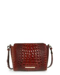 Brahmin - Red Melbourne Carrie Leather Crossbody Bag - - Lyst