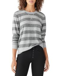 Lucky Brand Gray Cloud Jersey Sweatshirt