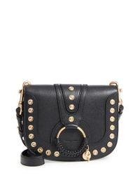 See By Chloé Black Hana Studded Small Leather Crossbody Bag