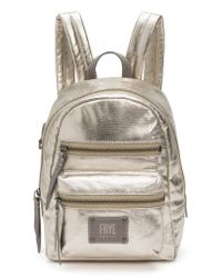 Frye - Mini Ivy Metallic Nylon Backpack - Lyst