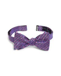 Ted Baker - Pink Geometric Silk Bow Tie for Men - Lyst