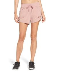 Zella | Pink Switchback Shorts | Lyst