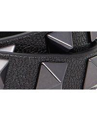 Valentino Black Rockstud Double Leather Bracelet