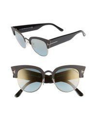 Tom Ford - Multicolor Alexandra 51mm Sunglasses - Lyst